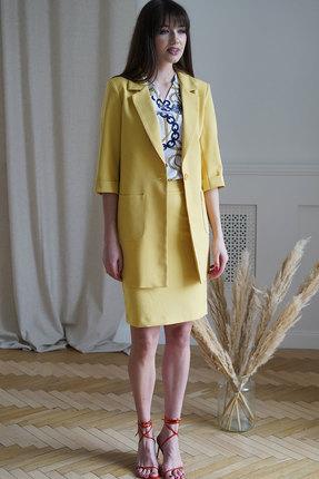 Комплект юбочный Ришелье 781 жёлтый