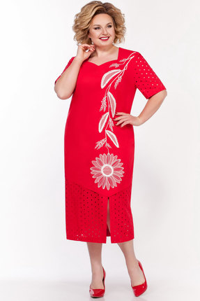 женское повседневные платье lakona, красное