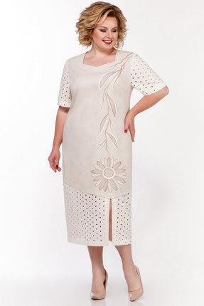 женское повседневные платье lakona, бежевое