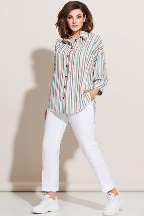 Комплект брючный Olga Style с670 цветной с молочным