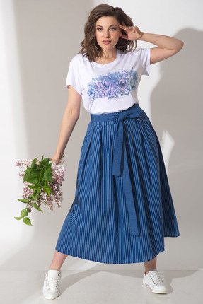 Комплект юбочный Anna Majewska Ф322-А241 сине-белый