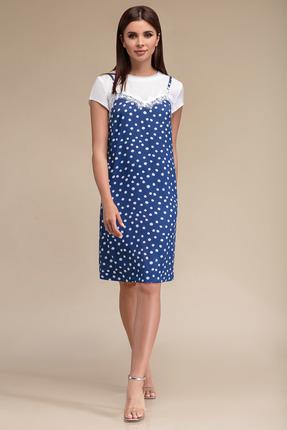 Платье Gizart 5063с синий