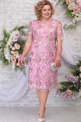 Платье Ninele 2239 пудра+розовый