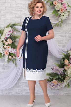 Платье Ninele 5790 тёмно-синий