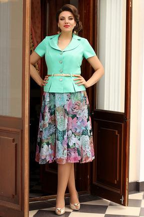 Комплект юбочный Мода-Юрс 2103 светло-зеленый