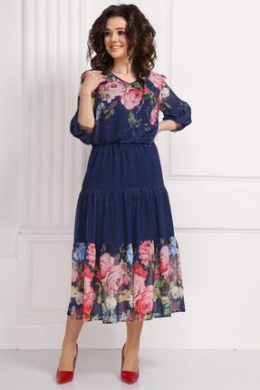 Платье Solomeya Lux 562 темно-синий