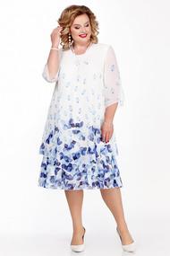 Платье Pretty 242-3 сине-белый