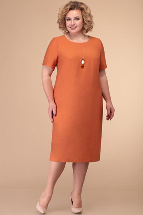 Платье Линия-Л Б-1812 терракотовый