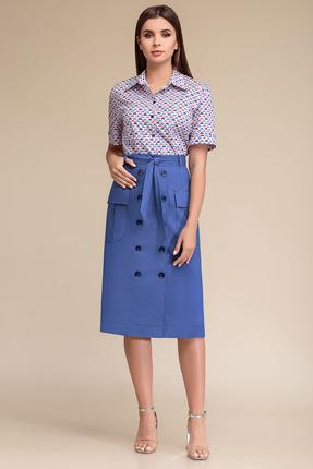 Комплект юбочный Gizart 7323с синий