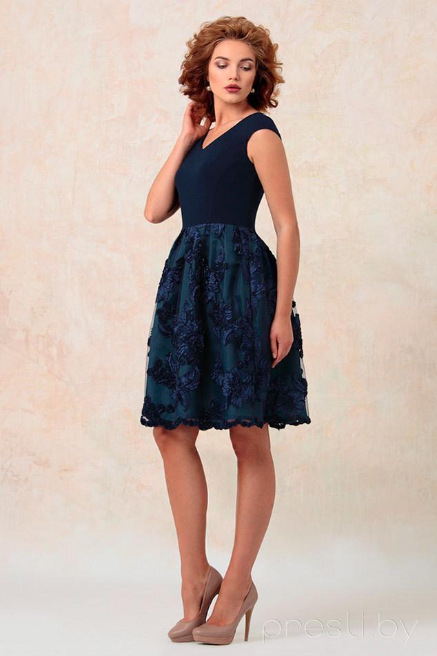 Платье Nika 4225 синий