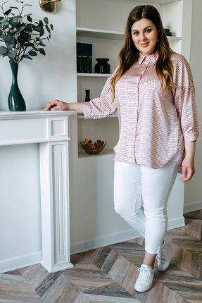 Блузка Olga Style с670а розовые тона