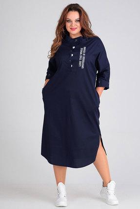 Платье Andrea Style 00189 синий