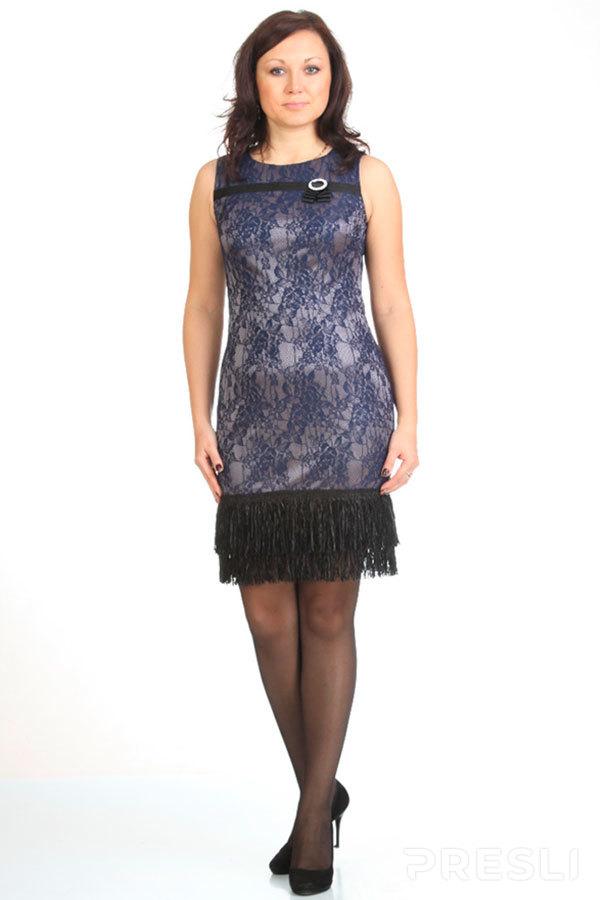 Платье Michel Chic 473 X черное с синим