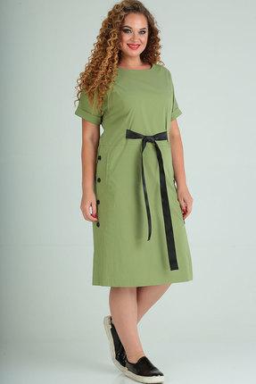 женское повседневные платье elga, салатовое