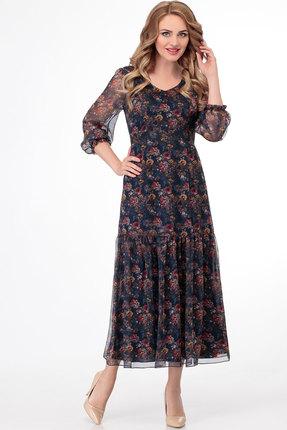 Платье СлавияЭлит 467 тёмно-синий