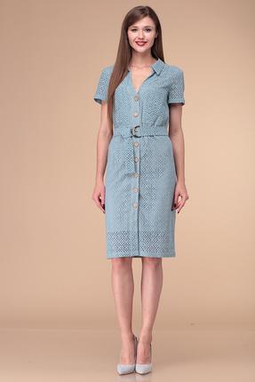 Платье Verita Moda 1198 голубой