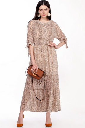 женское вечерние платье lakona, песочное
