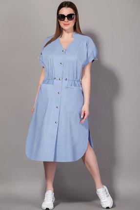 женское повседневные платье сч@стье, голубое