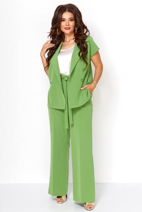 женский брючный костюм anastasia mak, зеленый
