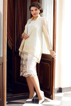 Комплект юбочный Мода-Юрс 2566 золотой с голубым