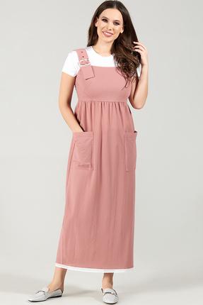Сарафан Teffi style 1500 розовые тона