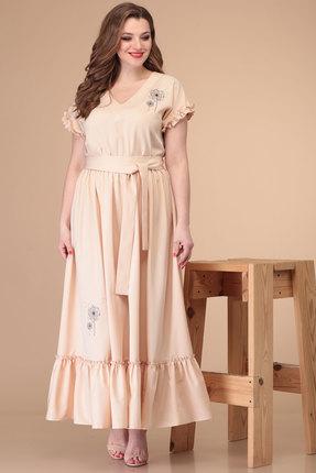 женское повседневные платье danaida, кремовое