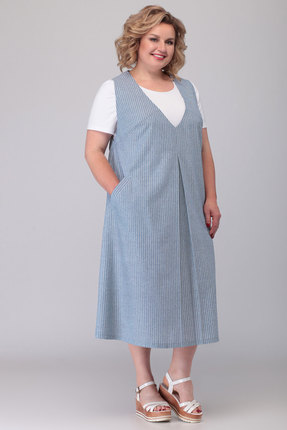 Сарафан Algranda 3546-1 голубой