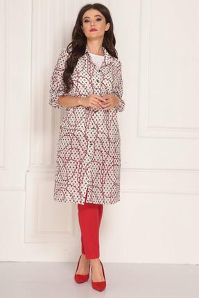 Комплект брючный Solomeya Lux 715-1 красный с белым