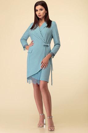 Платье Дали 3469 бирюзовые тона