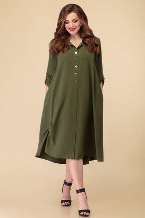 женское повседневные платье дали, зеленое
