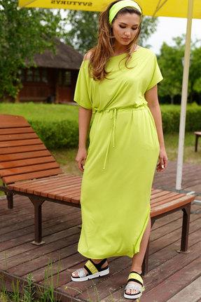 Платье ЛЮШе 2389 лаймовый