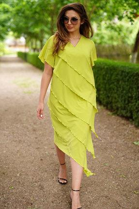 Платье ЛЮШе 2393 лаймовый