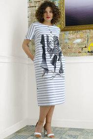Платье Avanti Erika 974-3 бело-голубой