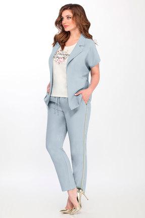 женский брючный костюм matini, голубой