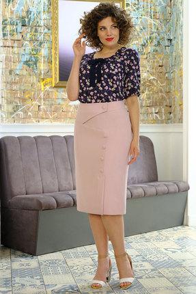 Комплект юбочный Erika Style 1018 розовый с синим