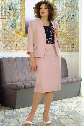 Комплект юбочный Erika Style 1023 розовый с синим