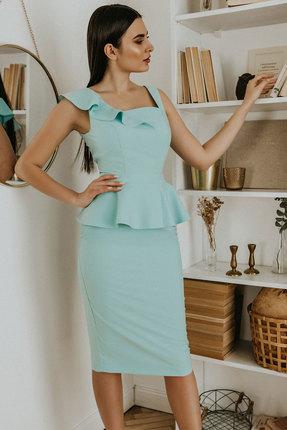 Комплект юбочный Olga Style м321 голубой