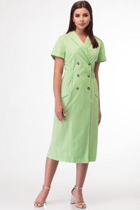 женское повседневные платье anelli, салатовое