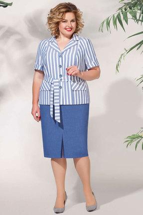 Комплект юбочный БагираАнТа 632 синие тона