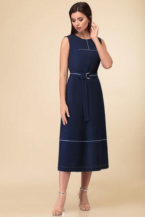 женское повседневные платье дали, синее