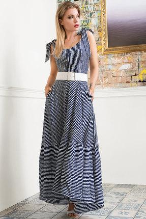 Сарафан Erika Style 1026 сине-белый