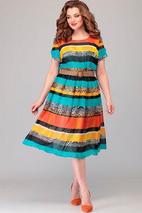 Платье Асолия 2481 мультиколор