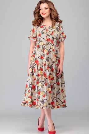 Платье Асолия 2478.5 мультиколор