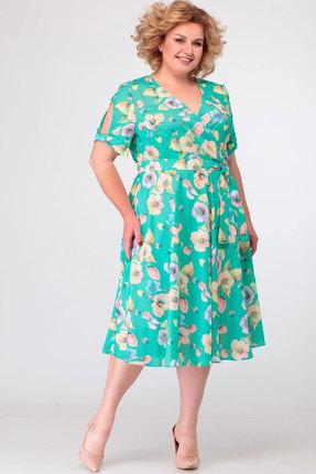 Платье Асолия 2480 бирюзовые тона