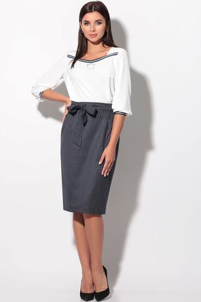 Комплект юбочный LeNata 21110 полоска на синем