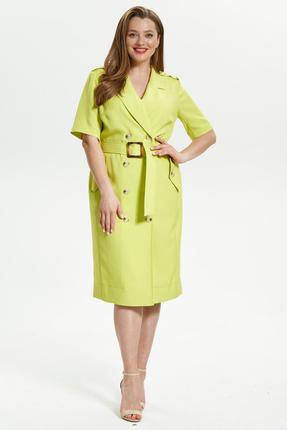 женское платье для офиса магия моды, салатовое