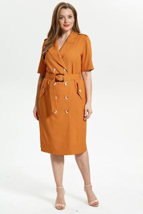 Платье Магия Моды 1760 оранжевые тона