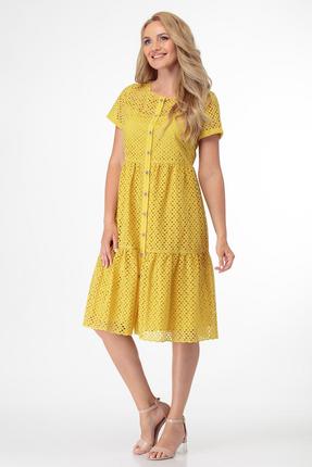 Платье Магия Моды 1757 желтые тона