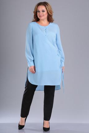 женский брючный костюм foxyfox, голубой