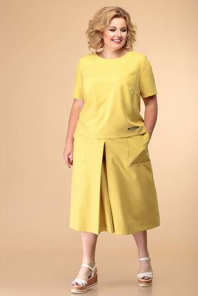 женский брючный костюм romanovich style, желтый